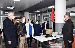 Vali Çuhadar filyasyon ekiplerinin çalışmalarını...