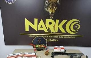 Aksaray'da uyuşturucu operasyonu: 2 tutuklama