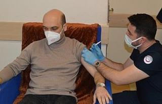 Besni'de ilk korona virüs aşıları yapılmaya...