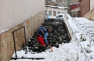Bitlis'te günde 200 kamyon kar şehir dışına...