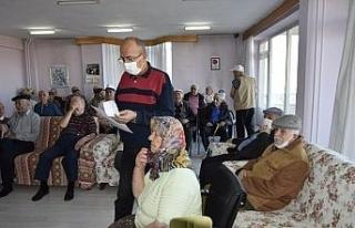 Burdur'da huzurevlerindeki yaşlılar CoronaVac...