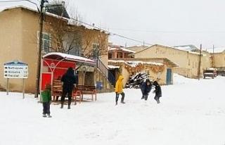Darende'de ilk kar düştü