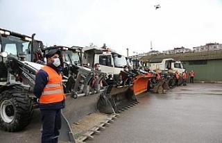 Darıca Belediyesi karla mücadeleye hazır