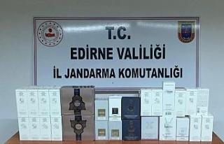 Edirne'de 5 bin 800 TL'lik kaçak parfüm ele...