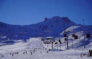 Erciyes'te kar kalınlığı 80 santime ulaştı,...