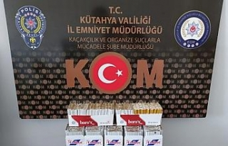 Kütahya'da 175 paket kaçak sigara ele geçirildi