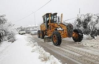 Mudanya'da kar mesaisi başladı