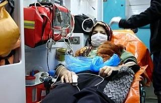 Muş'ta kar nedeniyle mahsur kalan 2 hasta kurtarıldı