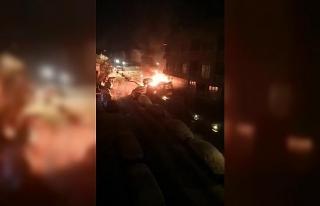 (Özel) İstanbul'da korkutan patlama kamerada
