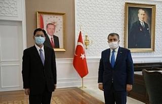 Sağlık Bakanı Koca, Çin'in Ankara Büyükelçisi...
