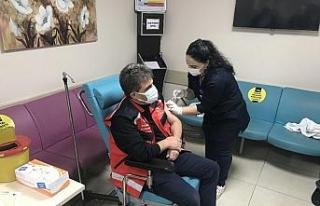 Trabzon'da ilk Korona virüs aşısını İl Sağlık...