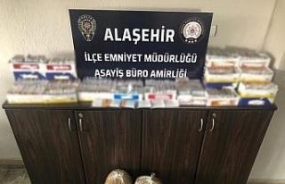 Alaşehir'de kaçak tütün operasyonu