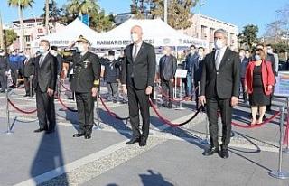 Atatürk'ün Marmaris'e gelişinin 86.yılı törenle...