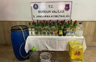 Burdur'da sahte içki imal eden 2 kişi yakalandı