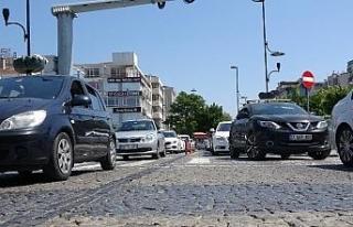 Çanakkale'de trafiğe kayıtlı araç sayısı...