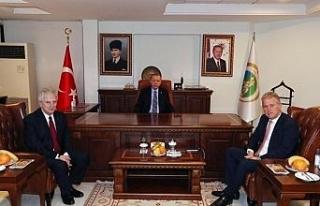 Cumhurbaşkanı Erdoğan, İZTO ve EBSO başkanları...