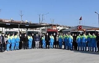 Kuşadası Belediyesi acil müdahale timleri 24 saat...