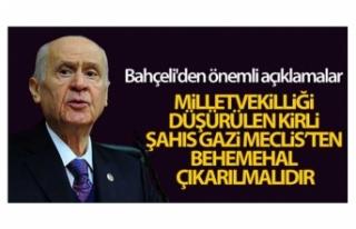 Bahçeli: 'Milletvekilliği düşürülen kirli...