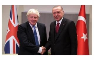 Cumhurbaşkanı Erdoğan İngiltere Başbakanı Johnson...