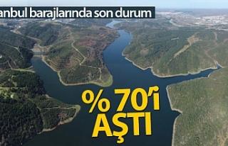 İstanbul barajlarındaki doluluk oranı yüzde 70'i...