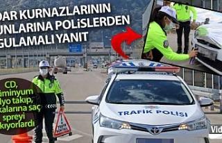 Radar kurnazlarının oyunlarına trafik polislerden...