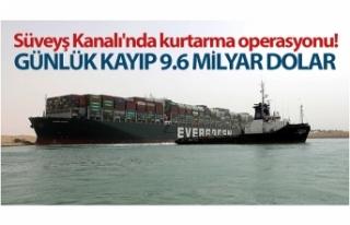 Süveyş Kanalı'nı tıkayan gemi günlük 9.6...