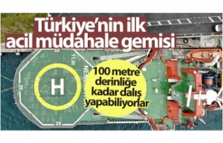 """Türkiye'nin ilk acil müdahale gemisi """"Nene..."""
