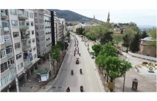 Bursa'da motosikletli polis ekipleri 23 Nisan...