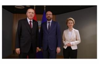 Cumhurbaşkanı Erdoğan, AB heyeti ile görüşüyor