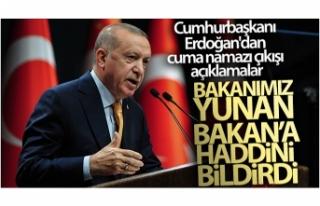 Cumhurbaşkanı Erdoğan'dan cuma namazı çıkışı...