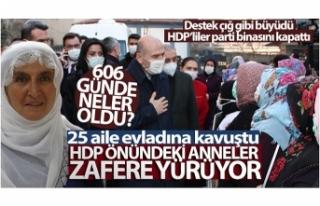 HDP önündeki anneler zafere yürüyor - 606 günde...
