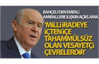 MHP Genel Başkanı Devlet Bahçeli'den emekli...