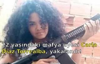 22 yaşındaki mafya üyesi Carla Díaz Torrealba,...