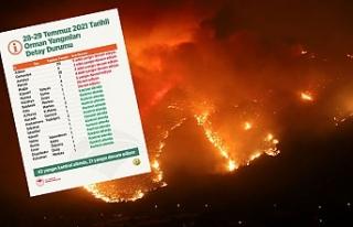 42 yangın kontrol altına alındı, 21 yangın devam...