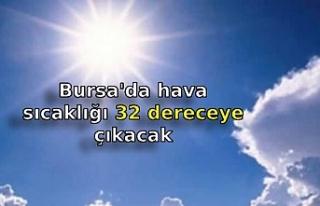 Bursa'da hava sıcaklığı 32 dereceye çıkacak