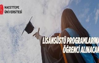 Hacettepe Üniversitesi Lisansüstü Programlarına...