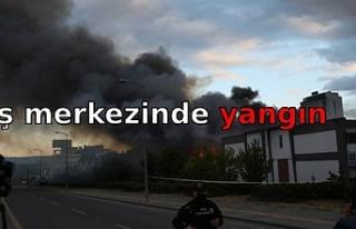 İş merkezinde yangın
