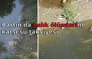 Bartın'da balık ölümlerine karşı su takviyesi