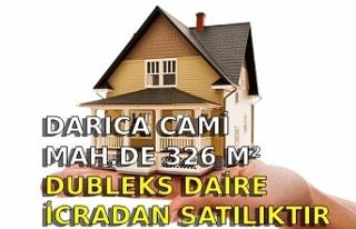 Darıca Cami Mah.de 326 m² dubleks daire icradan...