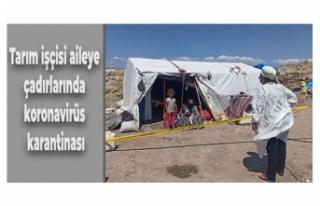 Tarım işçisi aileye çadırlarında koronavirüs...