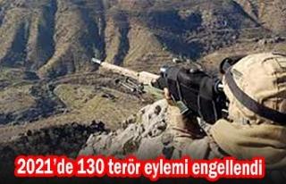 2021'de 130 terör eylemi engellendi