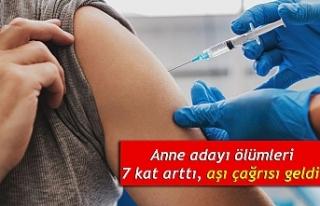 Anne adayı ölümleri 7 kat arttı, aşı çağrısı...