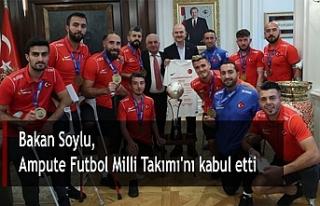 Bakan Soylu, Ampute Futbol Milli Takımı'nı...