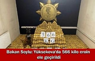 Bakan Soylu: Yüksekova'da 566 kilo eroin ele...