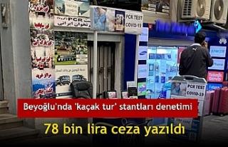 Beyoğlu'nda 'kaçak tur' stantları...