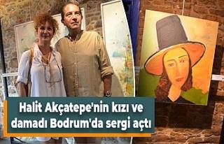 Halit Akçatepe'nin kızı ve damadı Bodrum'da...