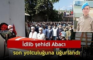 İdlib şehidi Abacı, son yolculuğuna uğurlandı