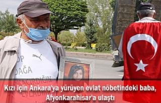 Kızı için Ankara'ya yürüyen evlat nöbetindeki...