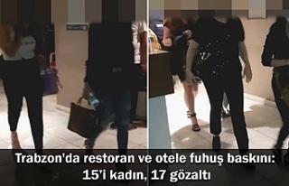 Trabzon'da restoran ve otele fuhuş baskını:...