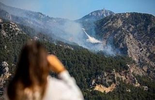 Antalya'daki orman yangını, Göynük Kanyonu'na...